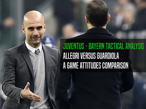 Juventus-Bayern Monaco, Champions League.  Tactical analysis and comparison of play behaviours