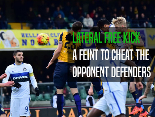 How to take a lateral free kick