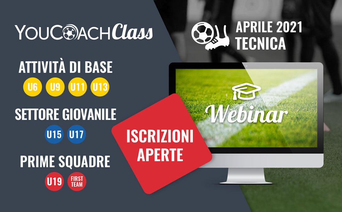 YouCoachClass webinar aprile mese della tecnica