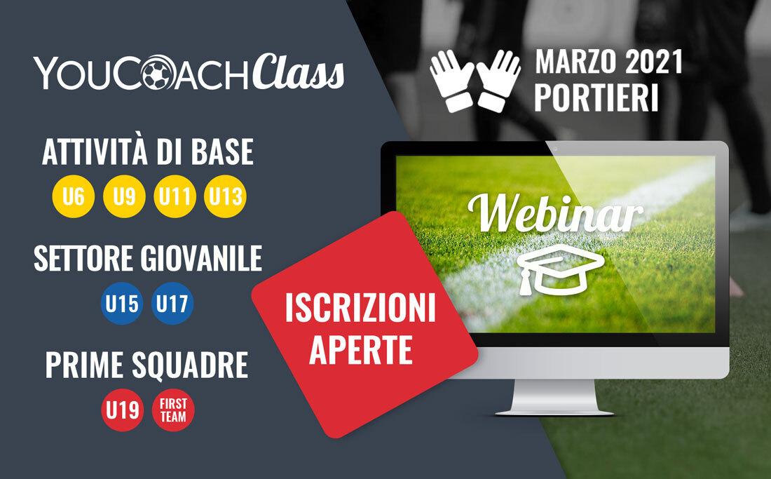 "YouCoachClass ""Portieri"": un mese di webinar gratuiti!"