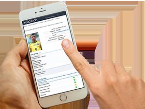 YouCoachApp per i preparatori atletici valutazione giocatori